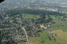 Luftaufnahme des Soerser Ortskerns vor dem Lousberg